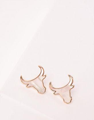 Сережки пусети у вигляді бика | 247682-08-XX - A-SHOP