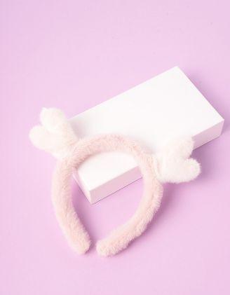 Обідок для волосся хутряний з рогами оленя | 246783-01-XX - A-SHOP