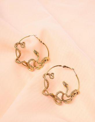 Сережки кільця зі зміями | 243764-04-XX - A-SHOP