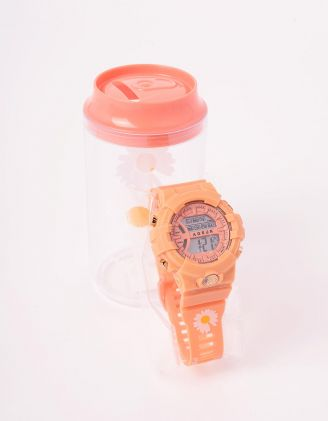 Годинник на руку з принтом ромашки у скарбничці | 243680-26-XX - A-SHOP