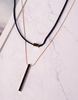 Підвіска подвійна з кулоном | 240646-04-XX - A-SHOP