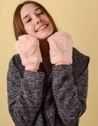 Рукавички мітенки теплі з гудзиками | 238477-14-XX