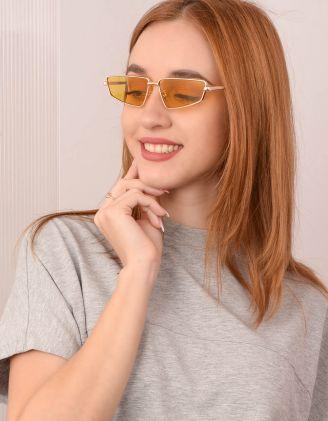 Окуляри сонцезахисні вузькі ретро | 241338-19-XX - A-SHOP