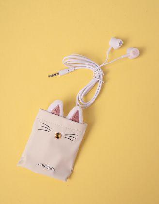 Навушники з чохлом із зображенням киці | 248704-01-XX - A-SHOP