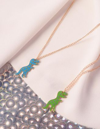 Підвіска подвійна френди з динозаврами | 238876-21-XX