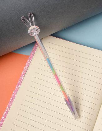 Ручка з кольоровою пастою та зайчиком на кінці | 237823-35-XX - A-SHOP