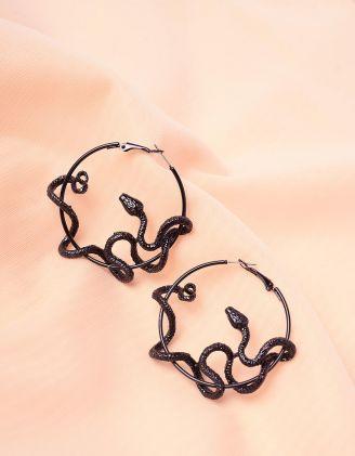 Сережки кільця зі зміями | 243764-02-XX - A-SHOP