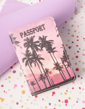 Обкладинка на паспорт з принтом пальми | 230401-21-XX - A-SHOP