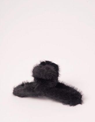 Шпилька для волосся крабік хутряна | 246549-02-XX - A-SHOP