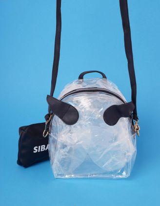 Рюкзак трансформер прозорий з крилами та косметичкою | 239007-02-XX