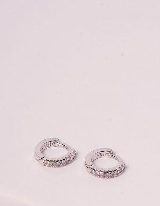 Сережки кільця зі стразами | 245466-06-XX - A-SHOP