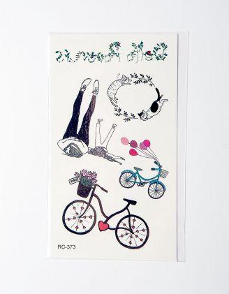Татуировка временная с велосипедами | 224878-21-XX - A-SHOP