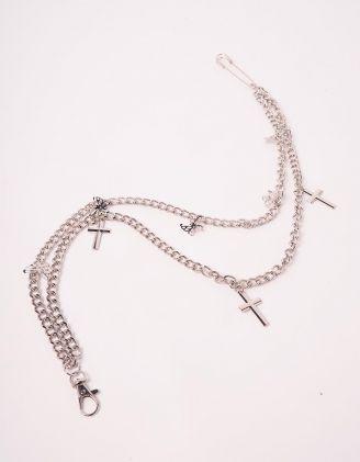 Ланцюжок для одягу подвійна з хрестами | 244078-05-XX - A-SHOP