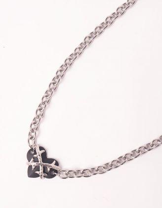 Чокер із ланцюжка з серцем | 249199-07-XX - A-SHOP