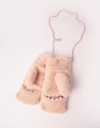 Рукавиці хутряні з ведмедиком | 245160-22-XX - A-SHOP