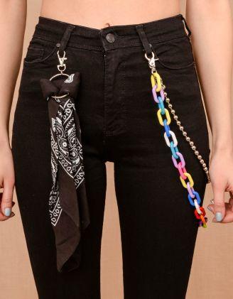 Ланцюжок для одягу кольоровий з хусткою | 240106-21-XX - A-SHOP