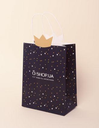 Пакет подарунковий a shop з короною та зірочками | 237924-02-XX - A-SHOP