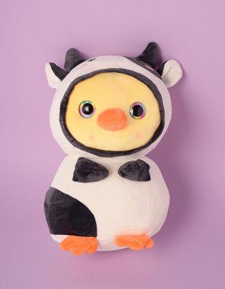 Іграшка м'яка у вигляді качечки у костюмі корівки | 248586-01-XX - A-SHOP