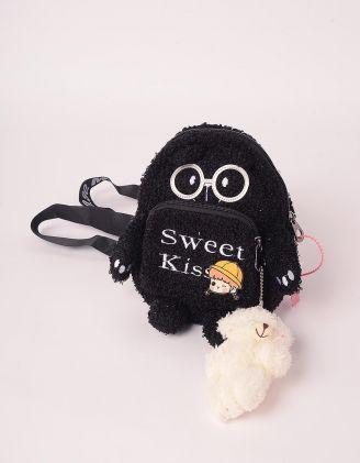 Рюкзак хутряний маленький з брелоком у вигляді ведмедика   247296-02-XX - A-SHOP