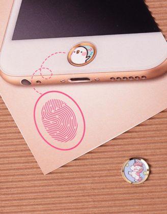 Наліпка на телефон на кнопку  HOME з принтом | 239887-18-XX - A-SHOP
