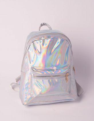 Рюкзак для міста голографічний з кишенею | 239531-05-XX - A-SHOP