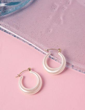 Сережки кільця з перлин | 240197-01-XX - A-SHOP