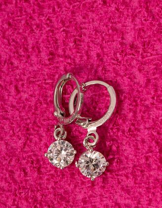 Сережки англійська застібка з кристалами | 228476-06-XX - A-SHOP