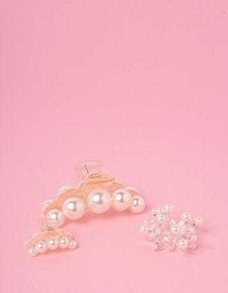 Шпилька для волосся у наборі з перлинами | 247527-01-XX - A-SHOP