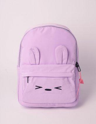 Рюкзак молодіжний з вушками та принтом зайця | 239313-03-XX