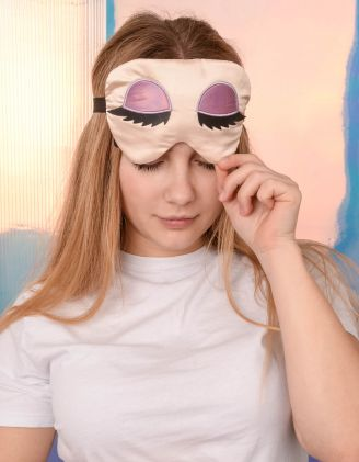 Пов'язка для сну з принтом очей | 239178-22-XX - A-SHOP