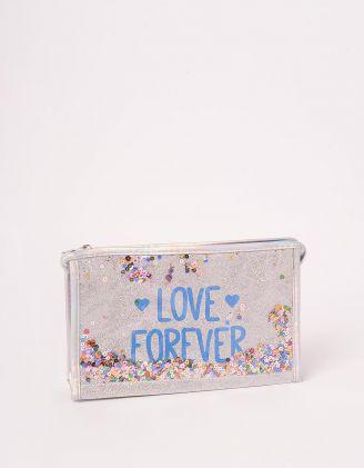 Косметичка з паєтками та написом love forever | 243601-05-XX - A-SHOP
