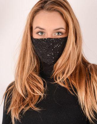 Маска на обличчя з паєткамм | 241909-02-XX - A-SHOP