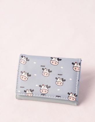 Гаманець портмоне з принтом корівки | 248929-37-XX - A-SHOP