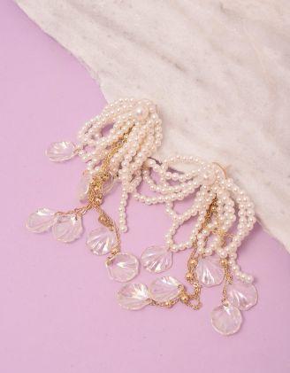 Сережки довгі із перлин | 249215-01-XX - A-SHOP