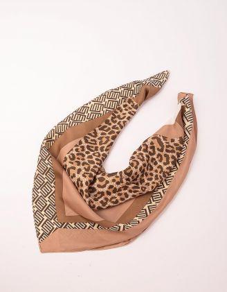 Хустка на шию з леопардовим принтом | 250145-39-XX - A-SHOP