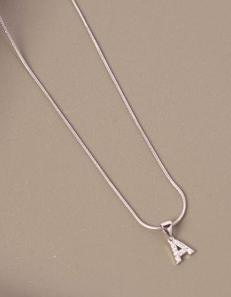 Підвіска на шию з кулоном у вигляді літери А | 247055-06-XX - A-SHOP