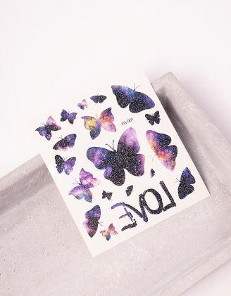 Татуювання тимчасове з принтом метеликів | 243406-21-XX - A-SHOP