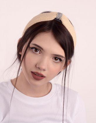 Обідок для волосся плетений з фурнітурою | 247412-22-XX - A-SHOP