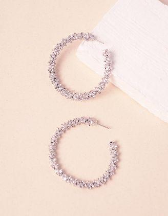 Сережки кільця з рельєфним покриттям | 240859-05-XX - A-SHOP