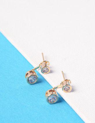 Сережки двосторонні з кристалами | 228417-08-XX - A-SHOP