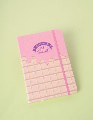 Блокнот у лінію з принтом шоколадки | 245419-14-XX - A-SHOP