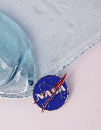 Брошка з написом NASA | 240628-13-XX - A-SHOP
