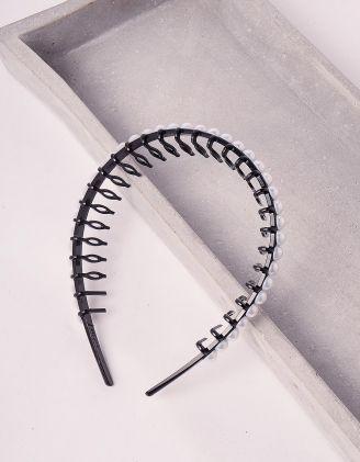 Обідок для волосся з перлинами | 244464-02-XX - A-SHOP