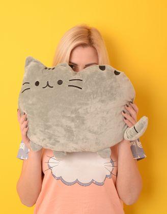 Іграшка подушка у вигляді кота | 220655-11-XX
