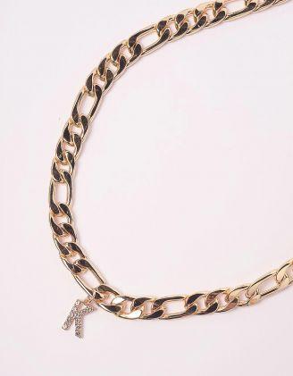 Підвіска на шию ланцюг з підвіскою у вигляді літери К | 245959-08-XX - A-SHOP