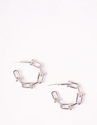 Сережки кільця у вигляді ланцюжка | 246540-05-XX - A-SHOP