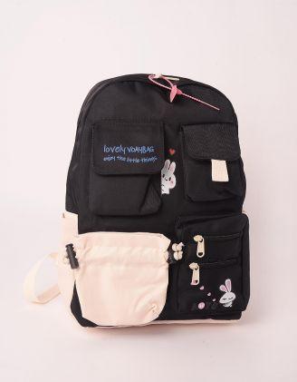 Рюкзак для міста  з кишенями та принтом кролика | 248250-02-XX - A-SHOP