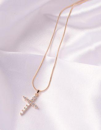 Підвіска на шию з хрестиком | 245708-08-XX - A-SHOP