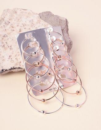 Сережки кільця у наборі з намистинами | 237776-21-XX - A-SHOP