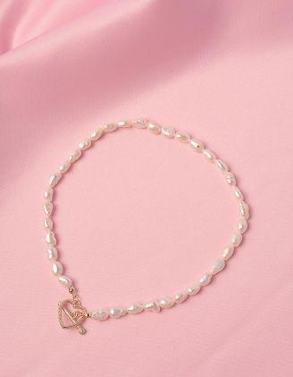 Підвіска на шию із перлин з кулоном у вигляді серця | 247724-08-XX - A-SHOP